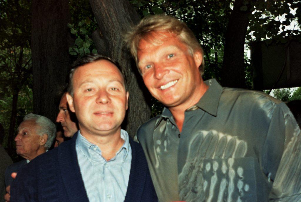 Минкевич Анатолий с Каливодом Александром на Чемпионате России по теннису 1996