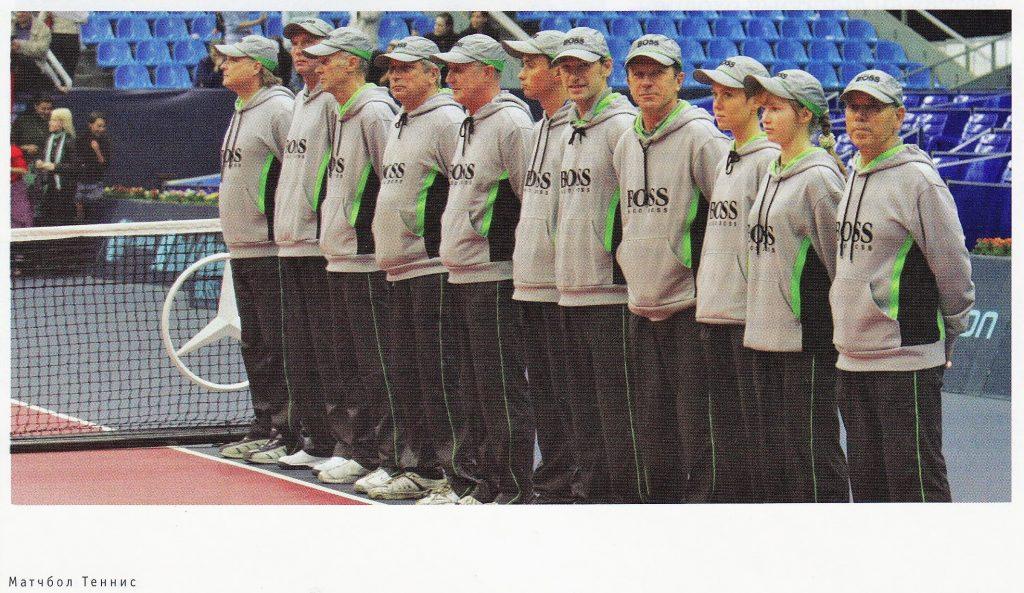 Минкевич Анатолий выводящий судья на Кубке Кремля 2005 Официальная экипировка линейных судей от компании Hugo BOSS Фото из журнала Теннис-Матчбол № 1