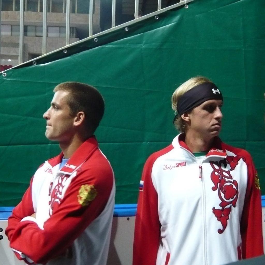 Андреев Игорь и Южный Михаил в составе сборной команды России на Кубке Дэвиса Россия-Чехия (2008)
