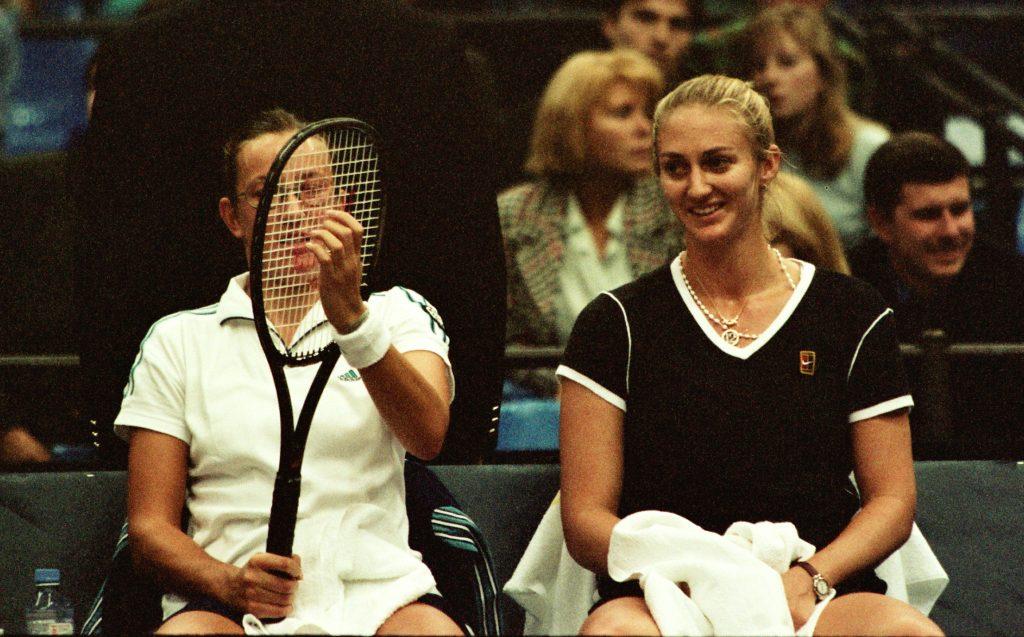 """Зверева Наталья (Беларусь) и Пирс Мари (Франция)-победительницы международного теннисного турнира WTA-Tour """"Кубок Кремля"""" в парном разряде (1998)"""