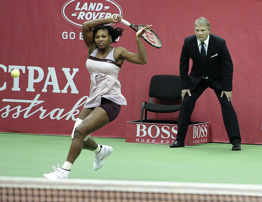 Минкевич Анатолий судья на линии матча с участием знаменитой американской теннисистки, королевы мирового тенниса, многократной победительницы турниров Большого шлема Серены Уильямс 2007 г.