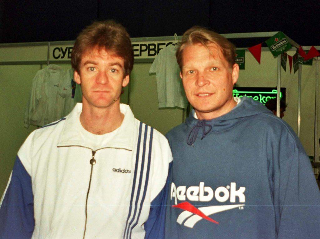 Яррид Андрис (Швеция)-победитель парного разряда St.Petersburg Open и Минкевич Анатолий (Россия)-судья турниров ATP-Tour (1995)