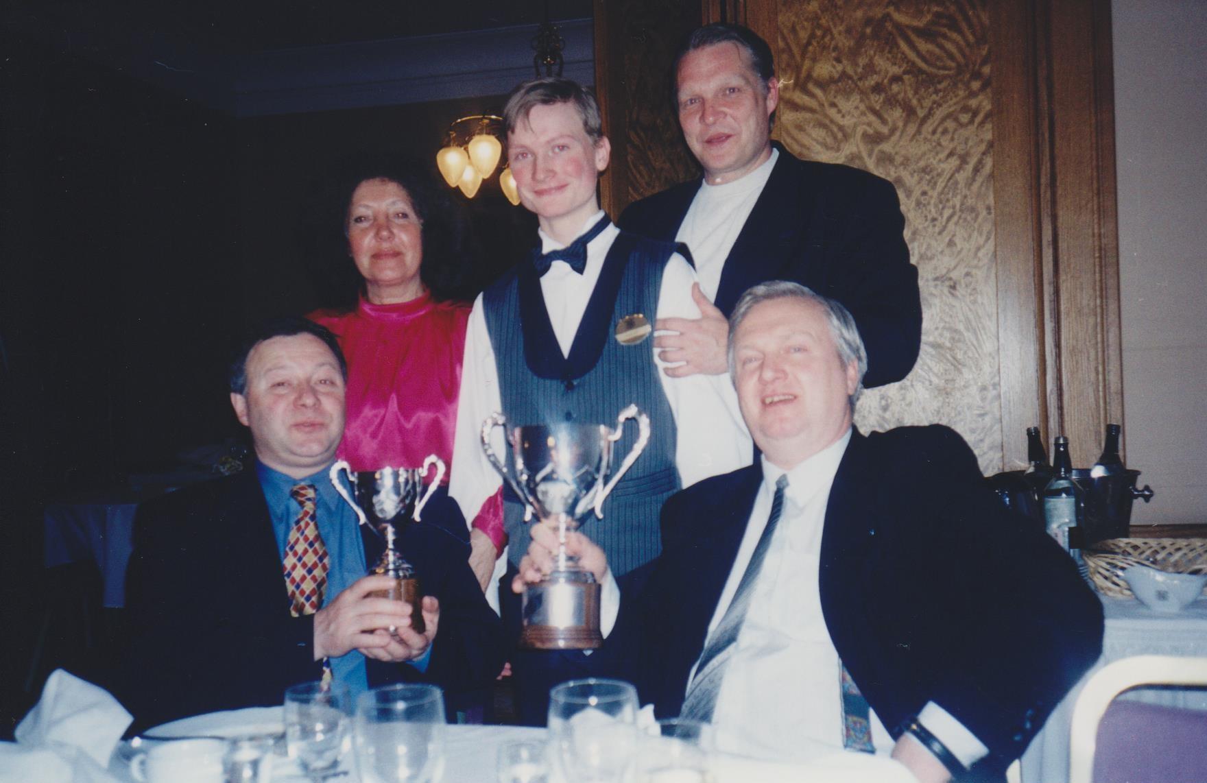 Минкевич Анатолий Адамович, Каливод Александр Васильевич и Воропаев Евгений Михайлович на фуршете в ресторане Националь 2000
