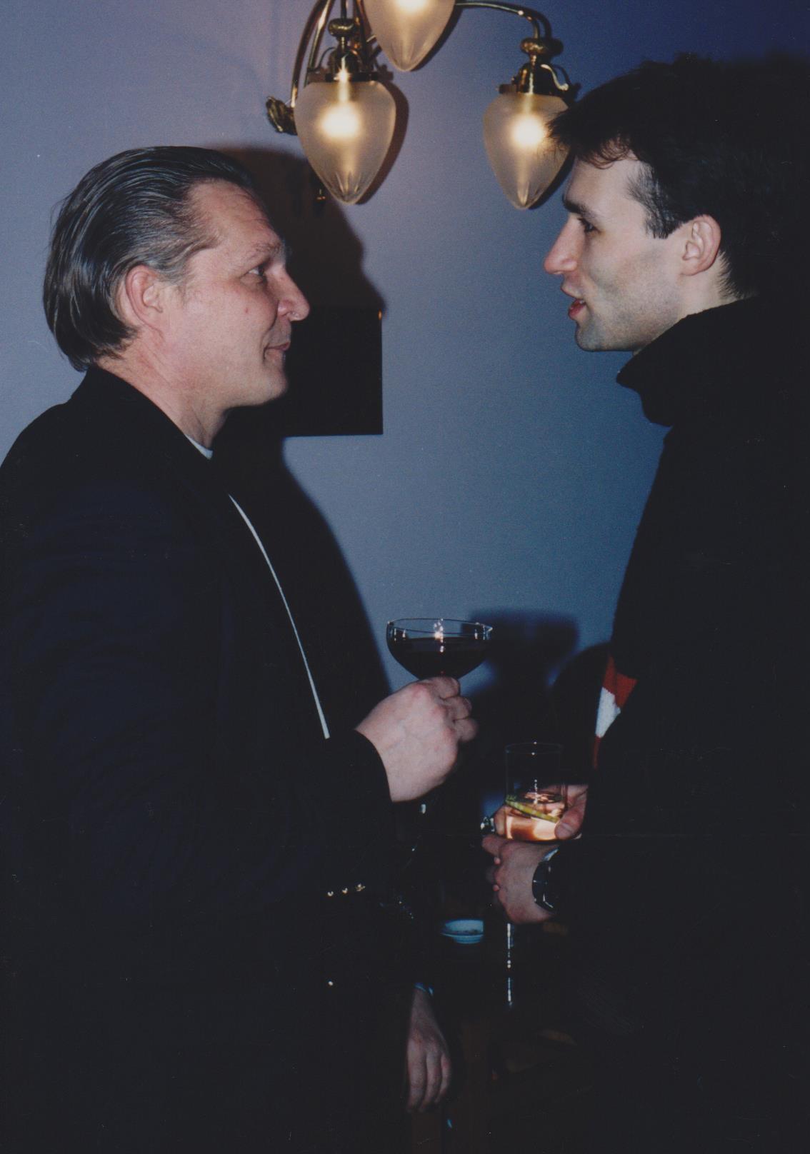 Минкевич Анатолий Адамович и Васильев Дмитрий Андреевич на фуршете в ресторане Националь 2000