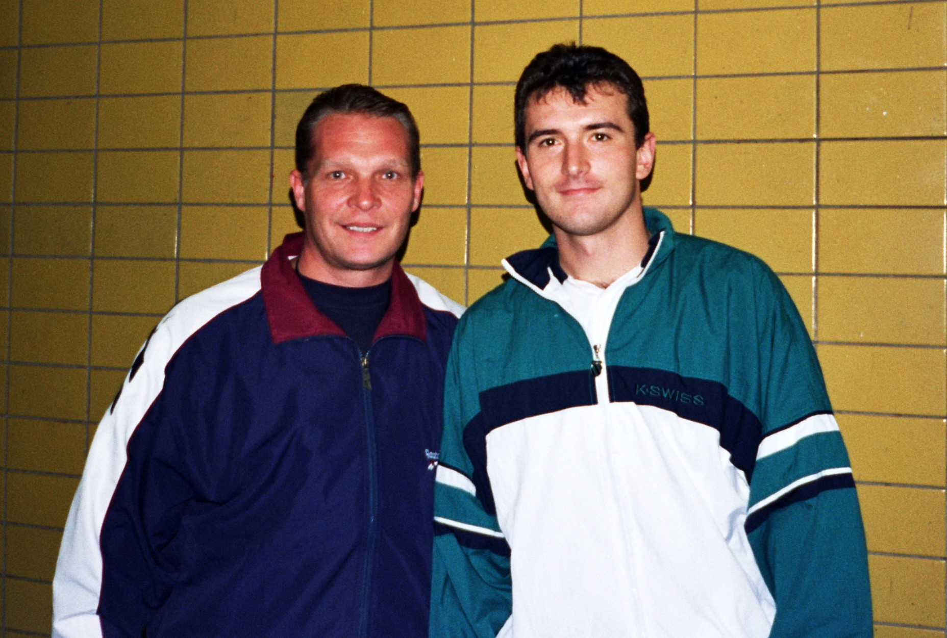 Дамм Мартин (Чехия) Знаменитый чешский теннисист и Минкевич Анатолий (Россия) Судья турниров ATP-Tour 1996