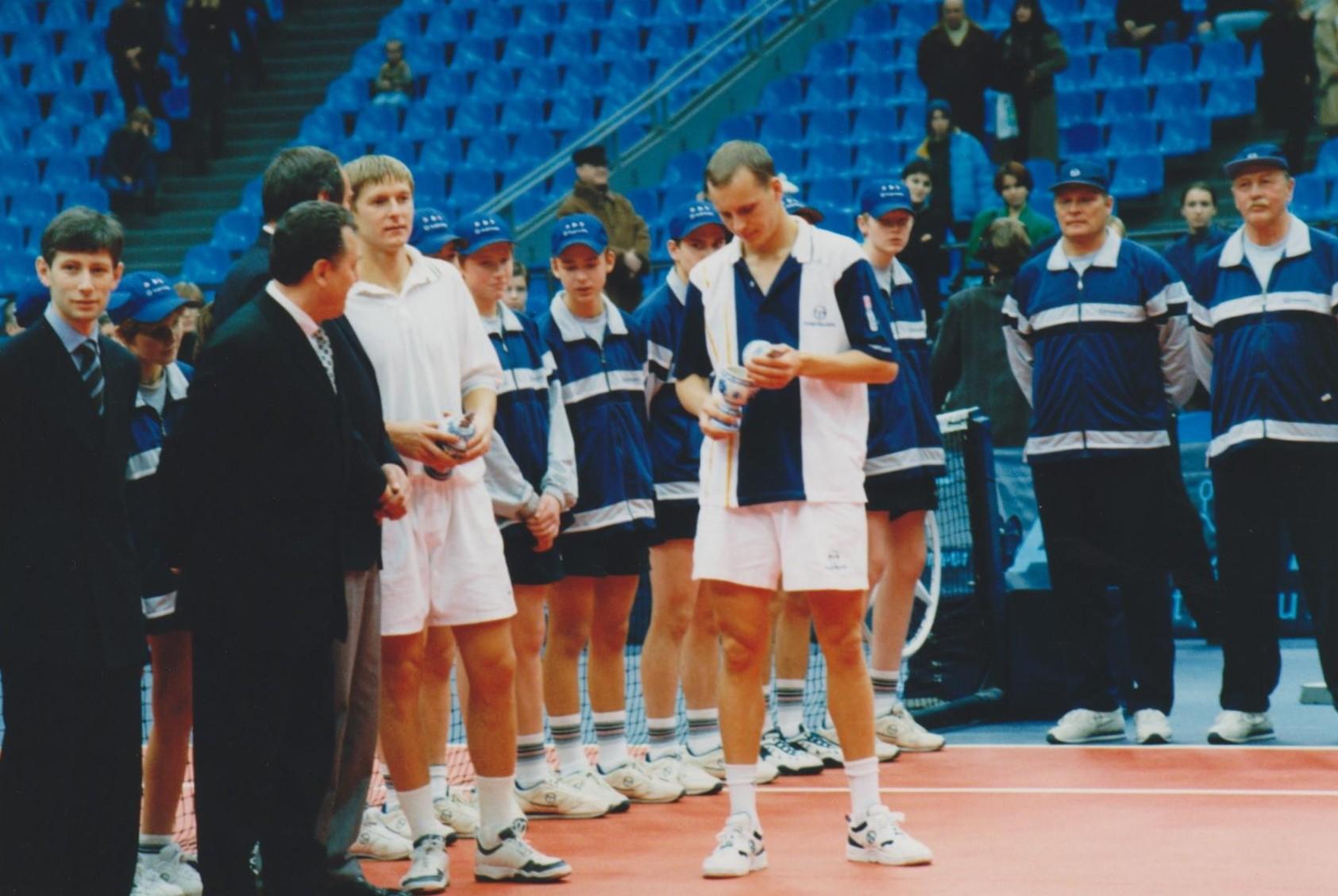 Кафельников Евгений (Россия) и Вацек Даниэль (Чехия) Финалисты Кубка Кремля в парном разряде 1998