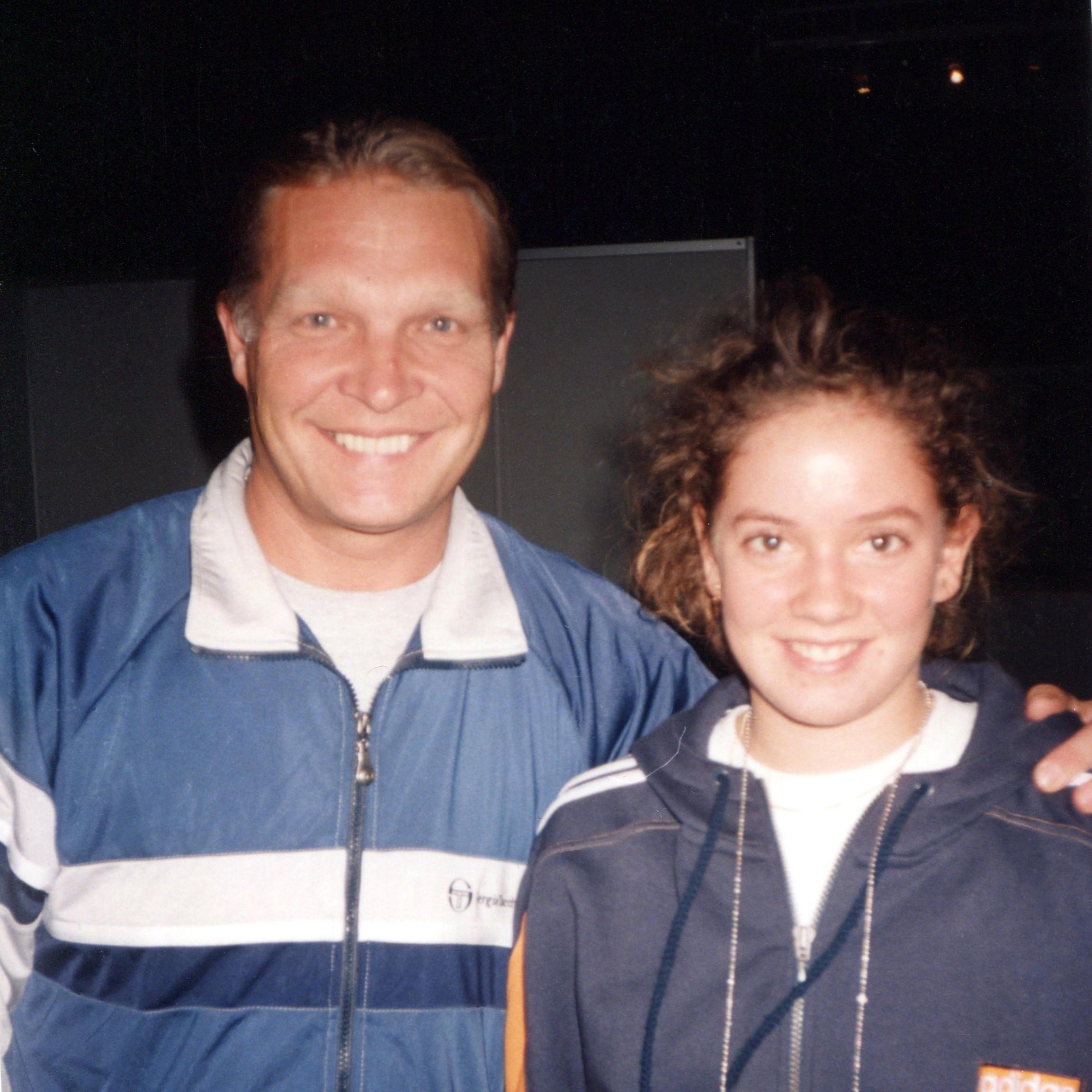 Шнидер Патти (Швейцария) Знаменитая швейцарская теннисистка и Минкевич Анатолий (Россия) Судья турниров WTA-Tour 1998