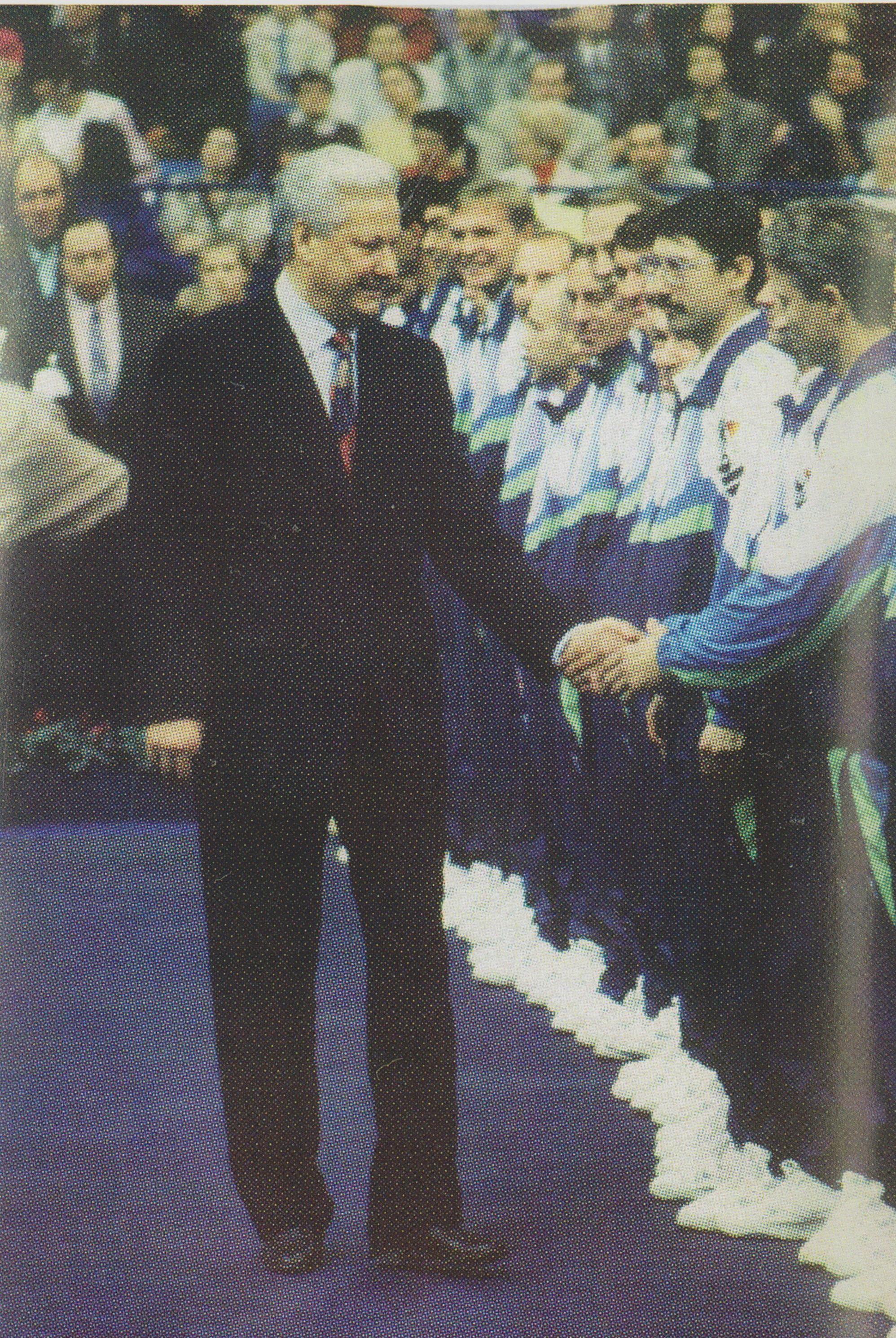 Ельцин Борис Николаевич Первый Президент России на международном турнире ATP-Tour Кубок Кремля-1992