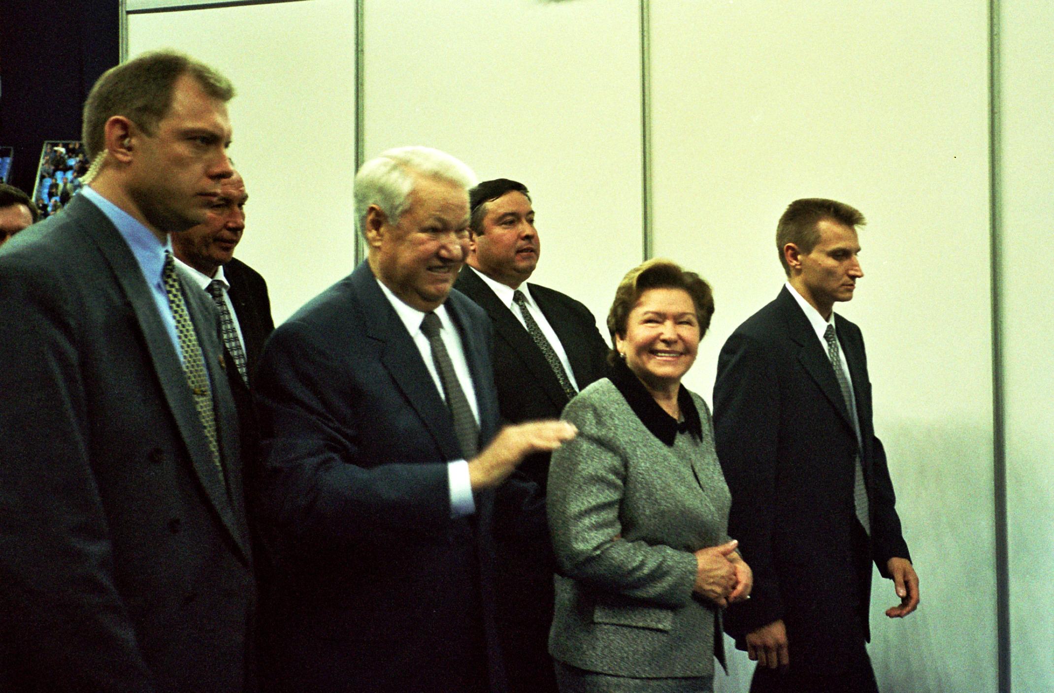 Ельцин Борис Николаевич Первый президент России на международном теннисном турнире ATP-Tour Кубок Кремля 2001