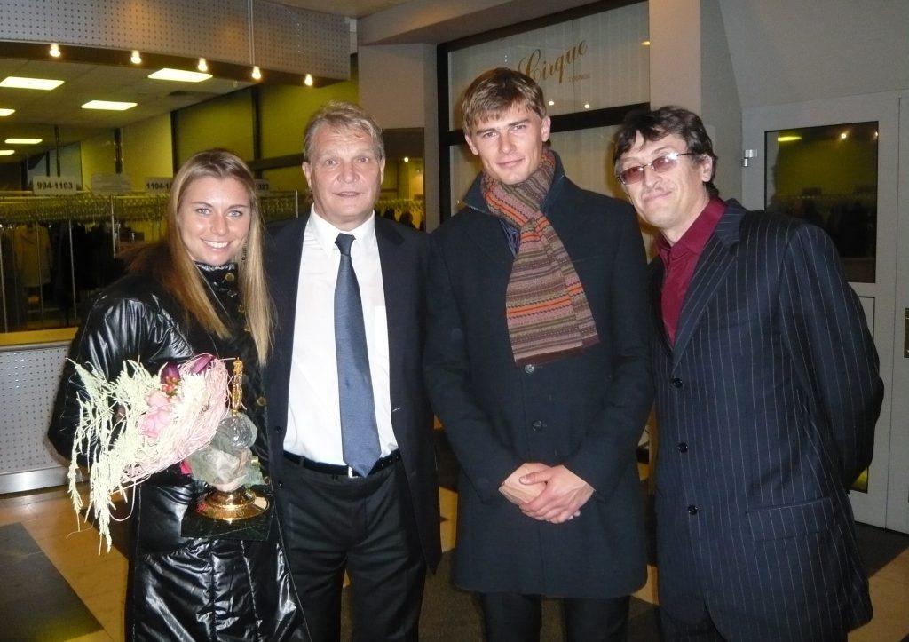 Звонарёва Вера (Россия)-обладательница ежегодной национальной теннисной премии Русский кубок. Отель Рэддиссон-Словянская (2010)