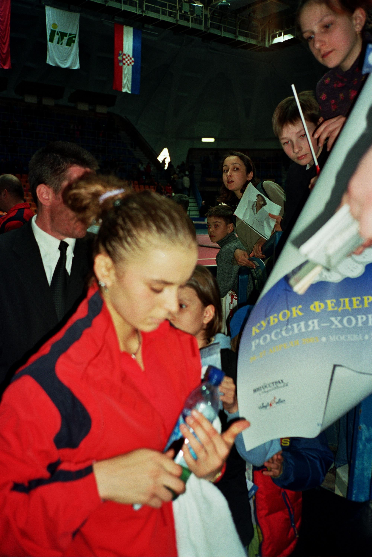 Спрем Каролина (Хорватия)-известная теннисистка на Кубке Федерации Россия-Хорватия (2003)