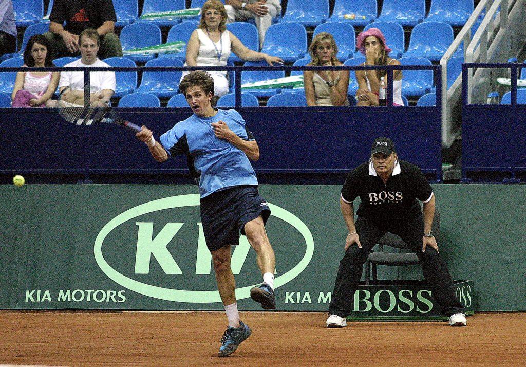 Андреев Игорь (Россия) и Минкевич Анатолий (Россия) на Кубке Дэвиса Россия-Франция 2005