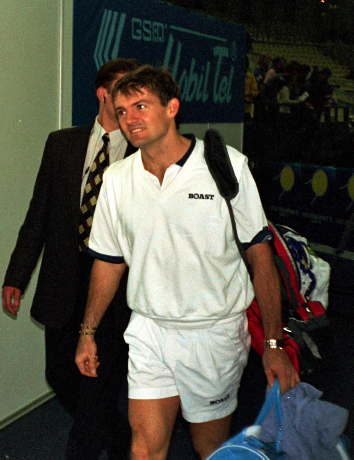 """Адамс Давид (ЮАР)-финалист турнира ATP-Tour """"Кубок Кремля"""" в парном разряде (1997)"""