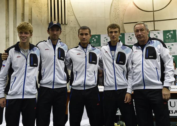 Сборная команда России на Кубке Дэвиса Россия-Дания Новый Уренгой (2015)