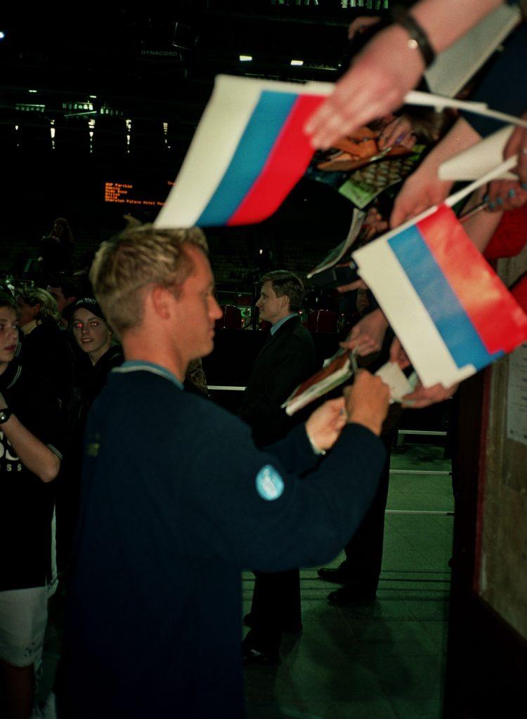 Юханссон Томас (Швеция) на Кубке Дэвиса Россия-Швеция (2002)