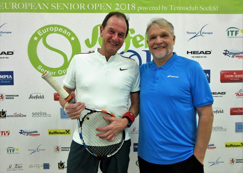 Минкевич Анатолий (Россия) и Gerecke Martin (GER) бронзовые призёры Чемпионата Европы по теннису ITF Seniors в парном разряде в Австрии, Зеефельд-2018