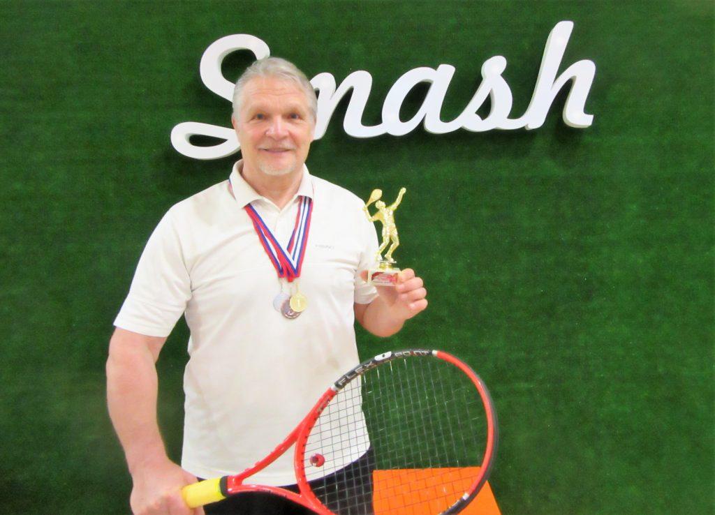 Минкевич Анатолий (Москва) на всероссийском теннисном турнире в городе Ставрополе 2018