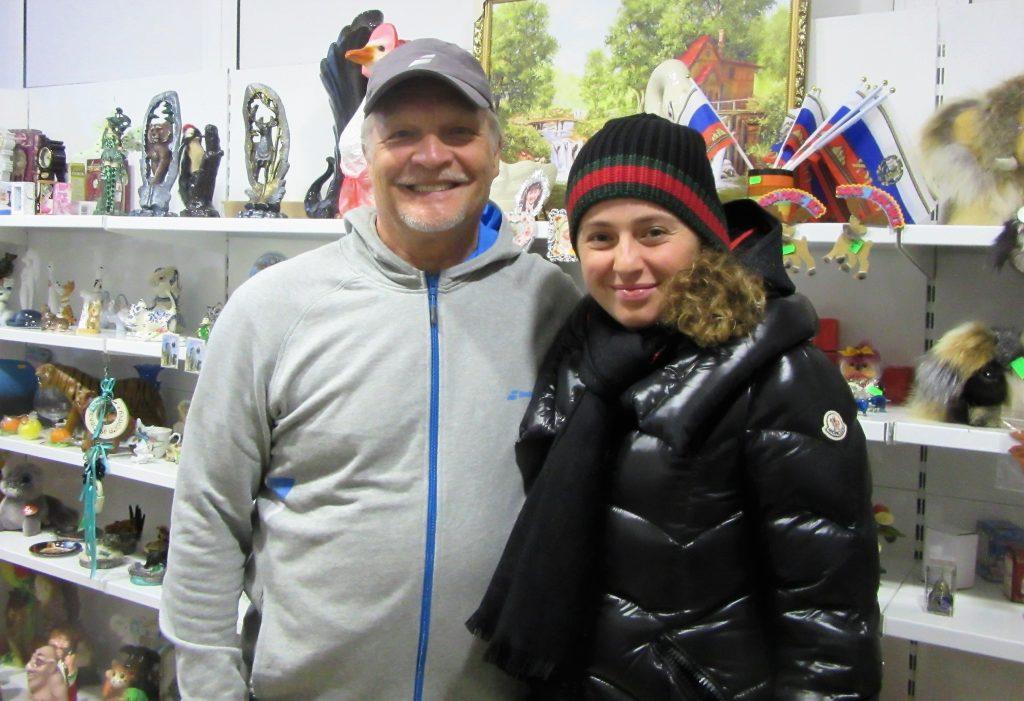 Минкевич Анатолий и Остапенко Елена (Латвия) победительница открытого чемпионата Франции по теннису на Кубке Федерации Россия-Латвия 2018