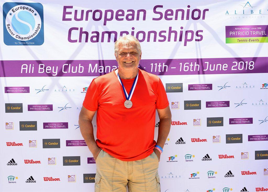 Минкевич Анатолий бронзовый призёр Чемпионата Европы по теннису в парном разряде. Турция, Сидэ, Али-Бей Манавгат 11-16 июня 2018 г.