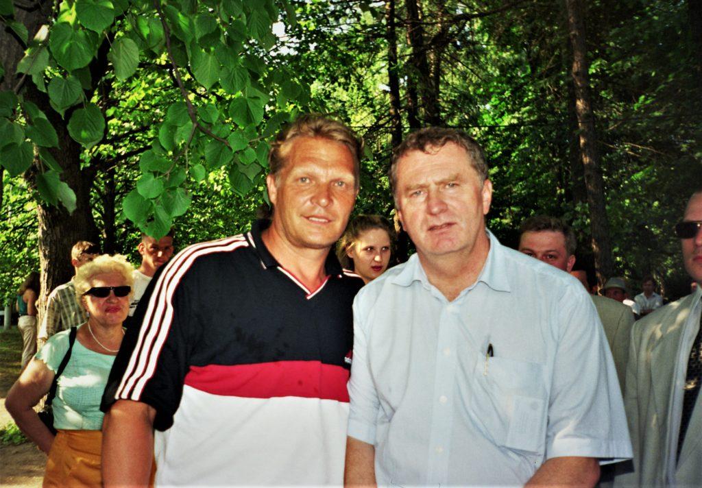 Минкевич Анатолий и Жириновский Владимир Вольфович Лидер партии ЛДПР 1998 г.