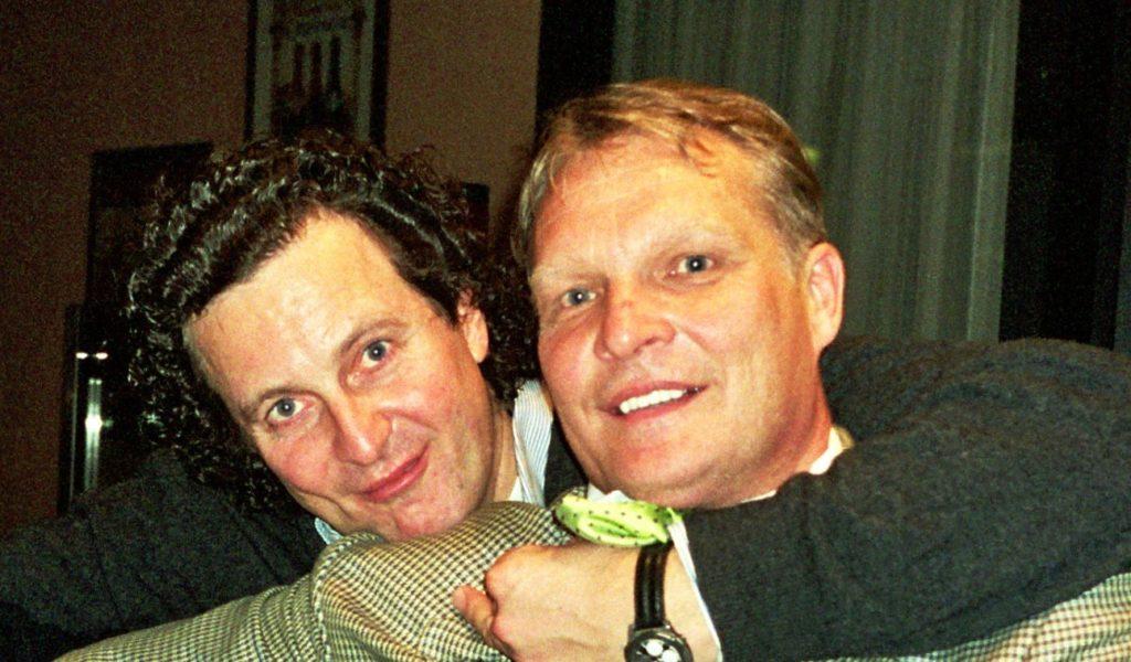 Минкевич Анатолий и Пугаев Константин на четвертом международном теннисном турнире Интербанк в Жуковке 2001 г.