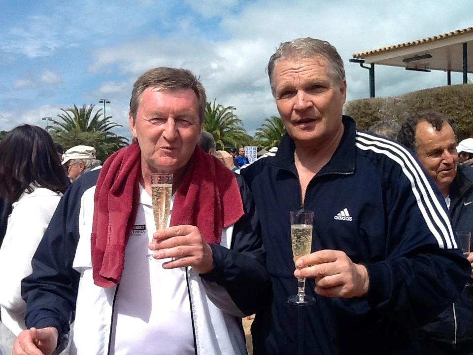 Минкевич Анатолий и Бахманн Харальд (Германия) призеры международного турнира по теннису в Испании Ллафранг 2013 (2)