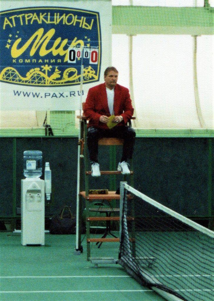 3 2002 Минкевич Анатолий судья на вышке Открытый зиний Чемпионат Москвы ТЦ Олимпиец