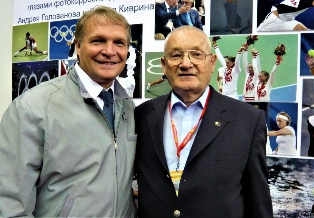 Минкевич Анатолий и Максимов Анатолий Павлович на международном теннисном турнире ATP/WTA-Tour Кубок Кремля 2008 г.